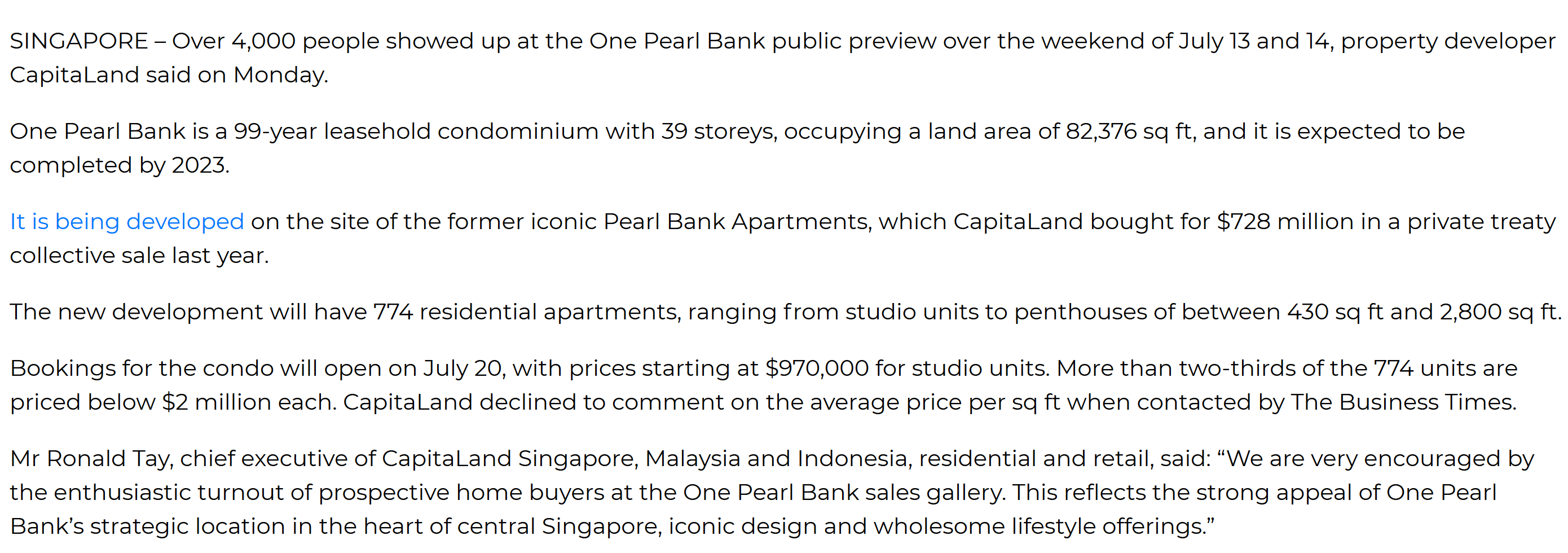 One Pearl Bank condo draws 4,000 during weekend preview